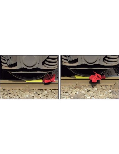 Self Removing and Passable Wheel Chock right handed version LIBO Railway and Tracking materials