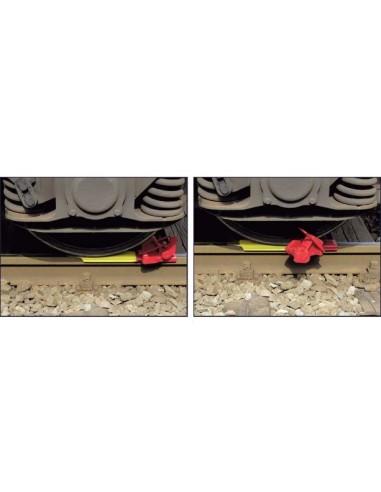 Self Removing and Passable Wheel Chock left handed version LIBO Cunei e costruzione ferroviaria v